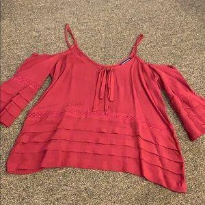 Burgundy tank top blouse